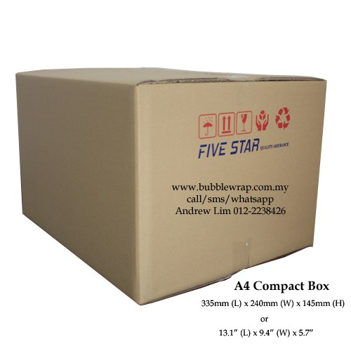 Compact A4 Size Carton Box Single Wall 10pcs