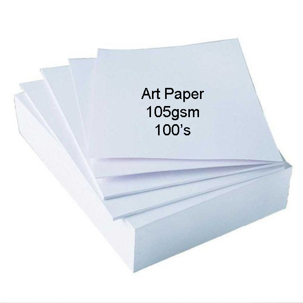 100pcs A4 Art Paper 105gsm Double Side Glossy