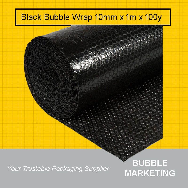 Black Bubble Wrap 1m x 100y (92m)
