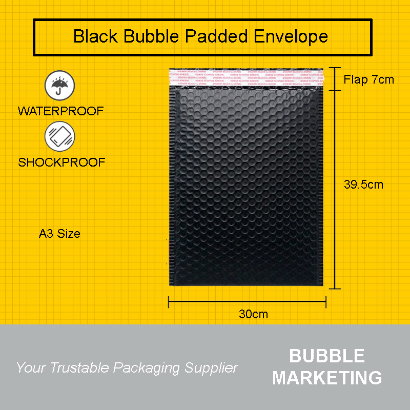 black-padded-bubble-envelope a3