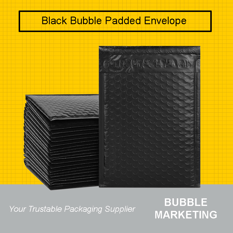 Black Bubble Mailer Envelope Black Matte Bubble Wrap Mailer Bubb