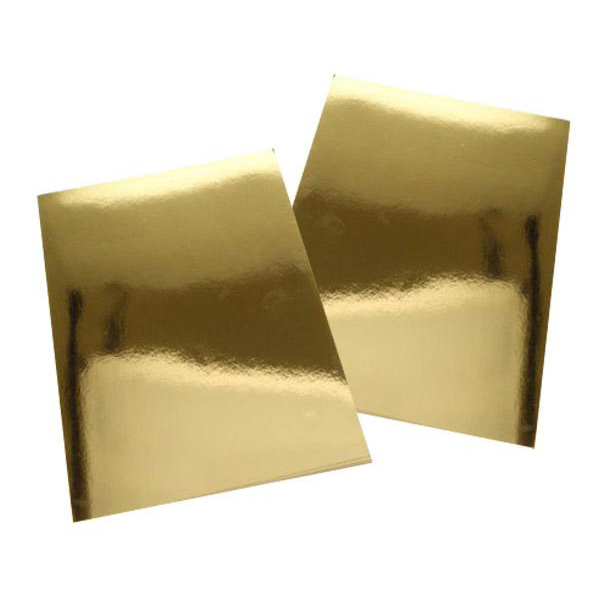 Gold Bright Polyester PVC Sticker A4 100's Waterproof/Tearproo