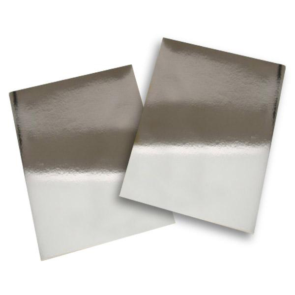 Silver Bright Polyester PVC Sticker A4 100's Waterproof/Tearproo