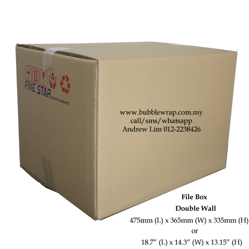 File Box Size Carton Double Wall 10pcs