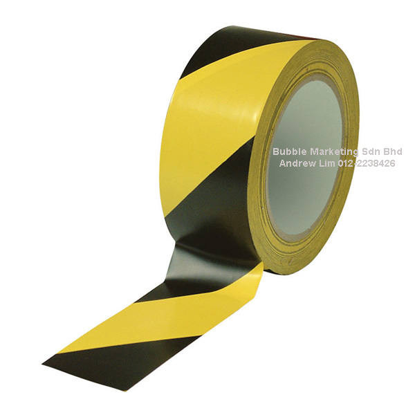 Floor Tape 48mm x 30m Yellow/Black Zebra Tape