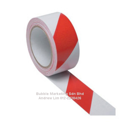 Floor Tape 48mm x 30m Red/White Zebra Tape