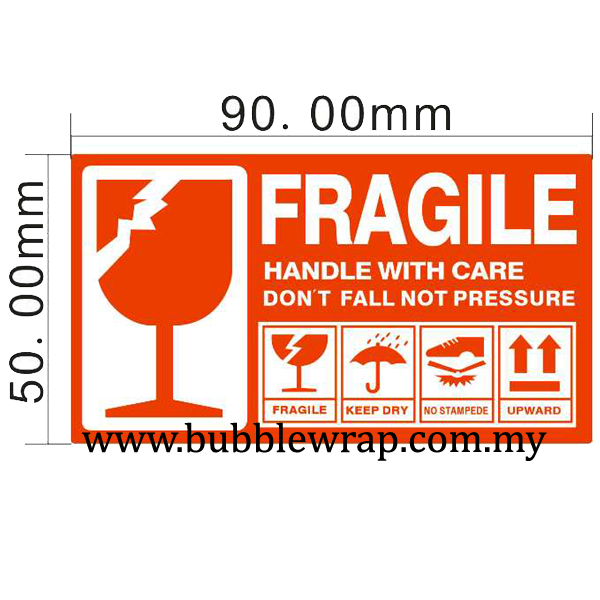 500pcs Fragile Sticker 5cm x 9cm for Courier Bag Boxes