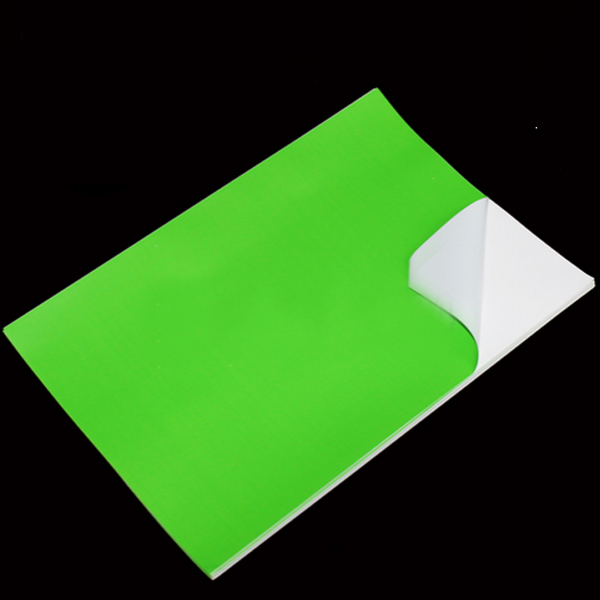 Green PVC Sticker A4 100's Waterproof/Tearproof