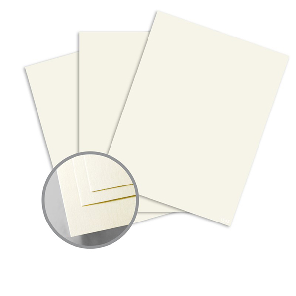 1000pcs Ivory Card 230gsm Double Side Glossy