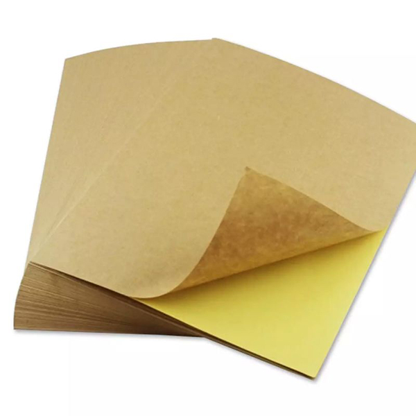 100pcs Kraft Sticker A4 Size Self-Adhesive Print
