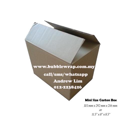 Mini Size Carton Box Single Wall 10pcs