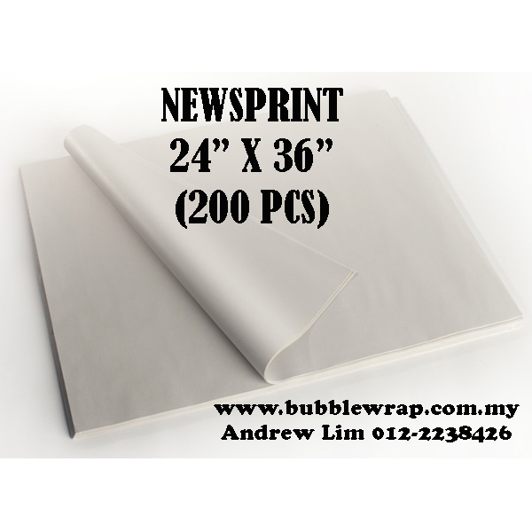 "Newsprint Paper Sheets 24""x36"" 200pcs"