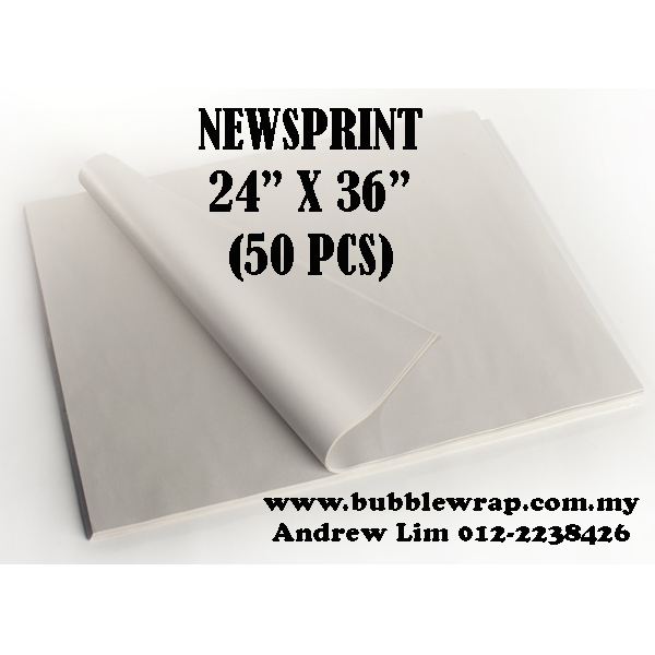 "Newsprint Paper Sheets 24""x36"" 50pcs"