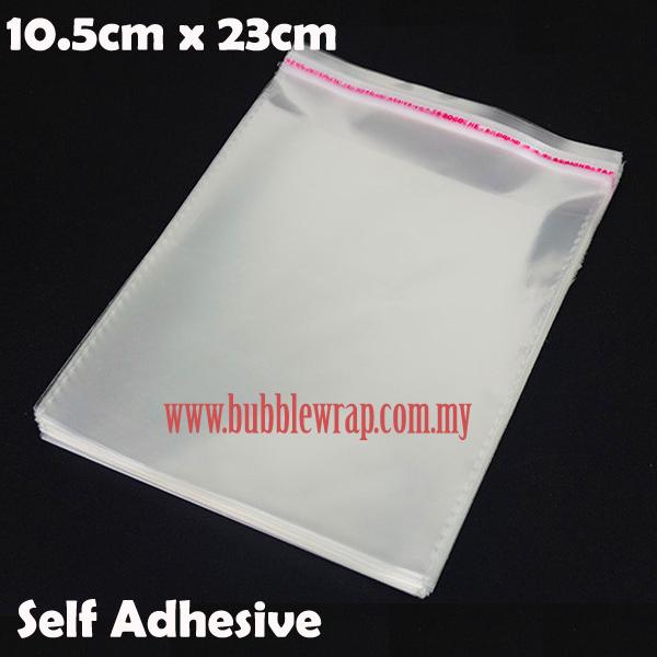 eb4e2cabaae 100pcs OPP Bag 10.5x23cm Self Adhesive Transparent Plastic Bag ...