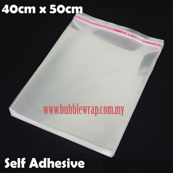 100pcs OPP Bag 40x50cm Self Adhesive Transparent Plastic Bag