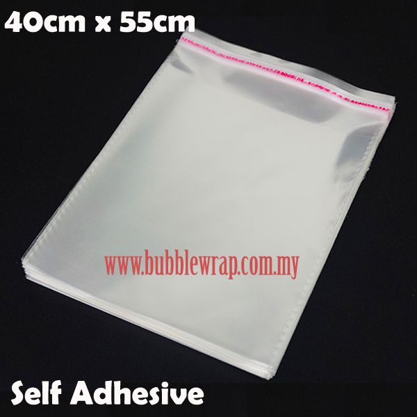 100pcs OPP Bag 40x55cm Self Adhesive Transparent Plastic Bag