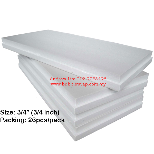 Polystyrene Foam Board 3/4 Inch 2x4ft (13pcs)