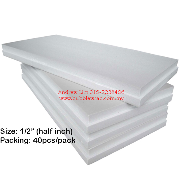 Polystyrene Foam Board 1/2 Inch 2x4ft (20pcs)