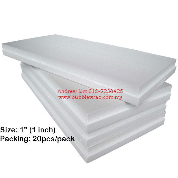 Polystyrene Foam Board 1 Inch 2x4ft (10pcs)