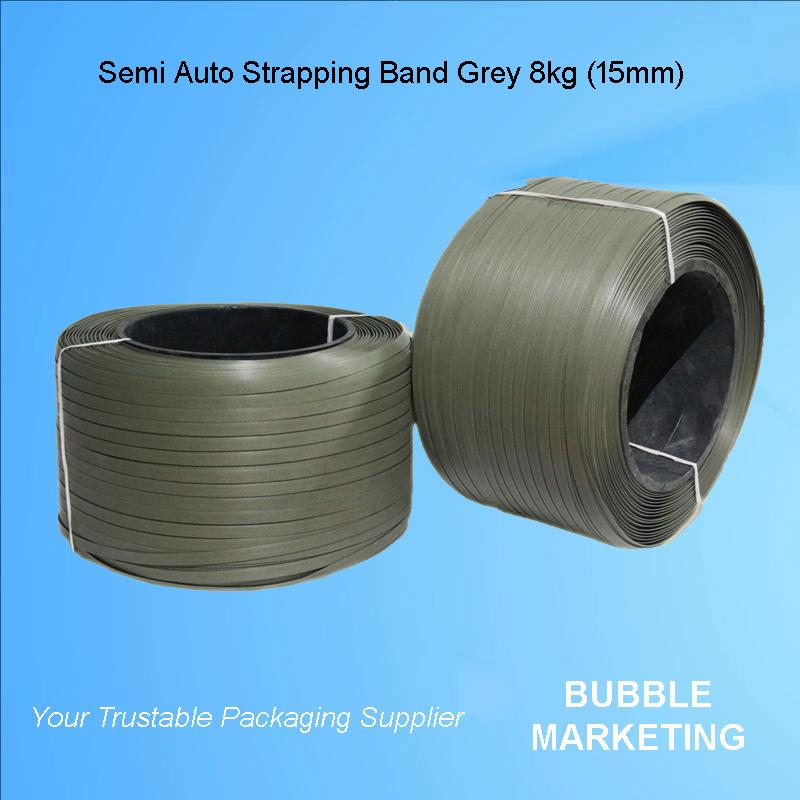 PP Strapping Band 15mm 8kg Grey