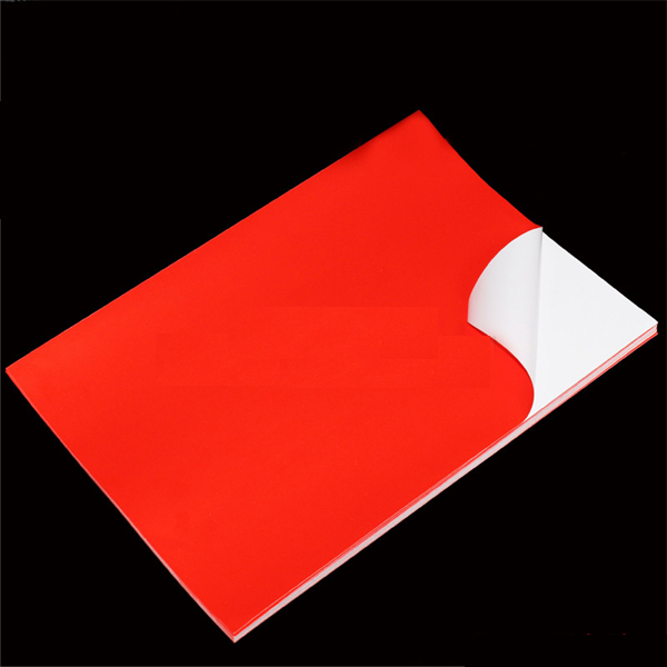 Red PVC Sticker A4 100's Waterproof/Tearproof