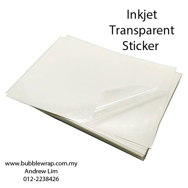 200pcs A4 Inkjet Transparent Sticker Self-Adhesive For Inkjet Pr