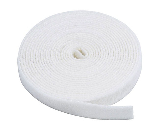 White Velcro Tape Self Adhesive Hook & Loop 25mm x 25m
