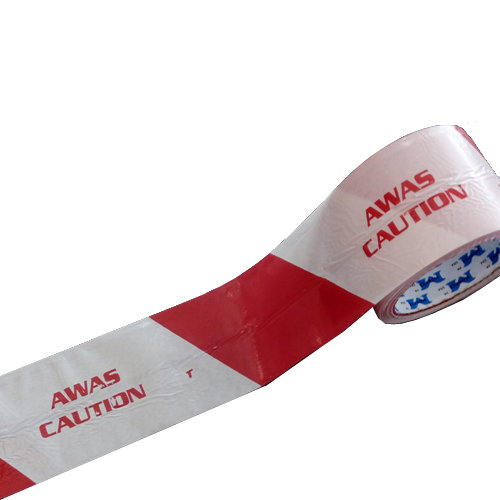 Warning Caution Awas Tape 72mm x 50m Red/White