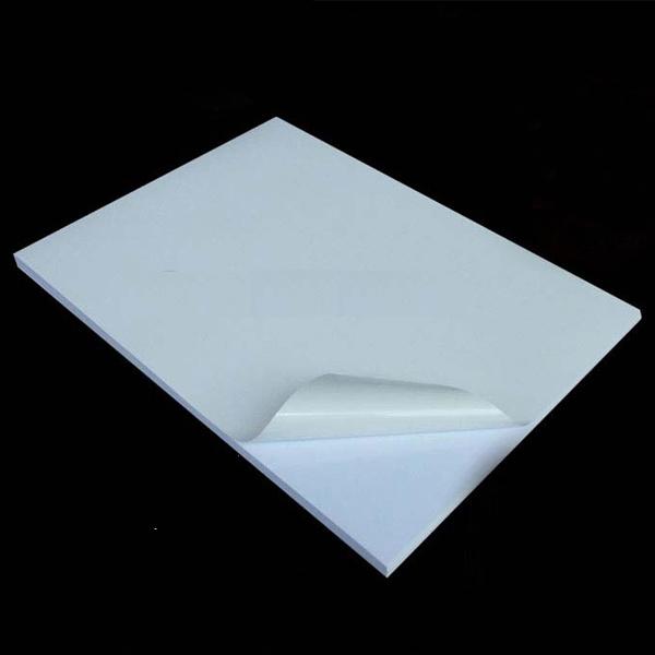 White Pvc Sticker A4 100 S Waterproof Tearproof Bubble