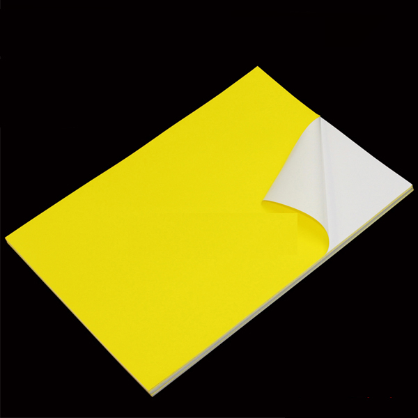 Yellow PVC Sticker A4 100's Waterproof/Tearproof