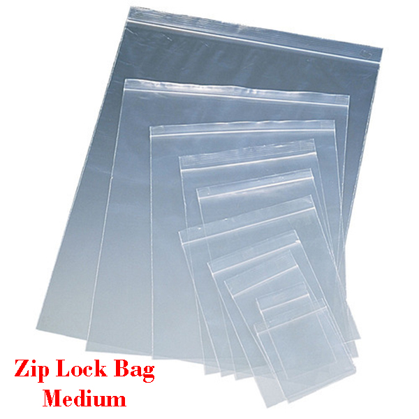 Zip Lock Bag MEDIUM Sizes Resealable Plastic Bags 100pcs