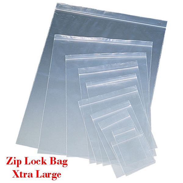 Zip Lock Bag XTRA LARGE Sizes Resealable Plastic Bags 100pcs